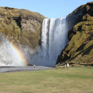 Skogarfoss with rainbow